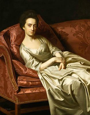 Singleton Painting - Portrait Of A Lady by John Singleton Copley
