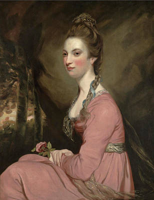 Joshua Reynolds Painting - Portrait Of A Lady by Joshua Reynolds