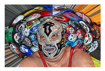 Photograph - Portrait Of Pro Luchador Chicano Flame by Jim Fitzpatrick