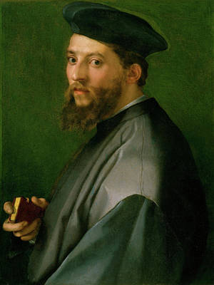 Mannerism Painting - Portrait Of A Man by Andrea del Sarto