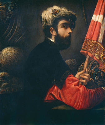 Saint George Painting - Portrait Of A Man As Saint George by Tintoretto