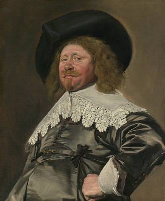 Painting - Portrait Of A Man, Possibly Nicolaes Pietersz Duyst Van Voorhout by Frans Hals