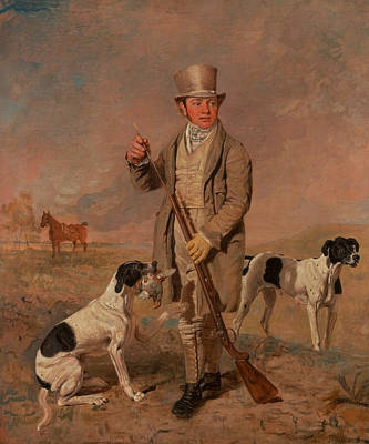Marshall Painting - Portrait Of A Sportsman, Possibly Richard Prince by Benjamin Marshall