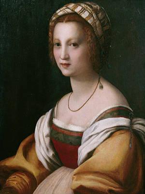 Sarto Painting - Portrait Of A Woman by Andrea del Sarto