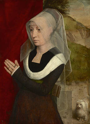 Painting - Portrait Of A Woman At Prayer by Hans Memling
