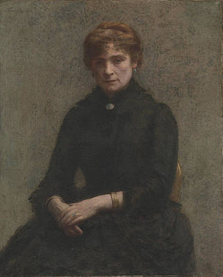 Painting - Portrait Of A Woman by Henri Fantin-Latou
