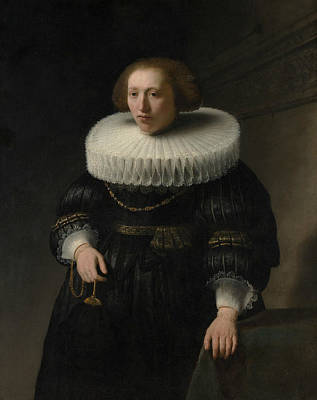 Painting - Portrait Of A Woman, Probably A Member Of The Van Beresteyn Family by Rembrandt