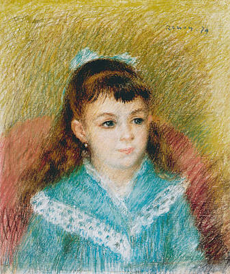Portrait Of A Baby Drawing - Portrait Of A Young Girl Elisabeth Maitre   by Pierre Auguste Renoir