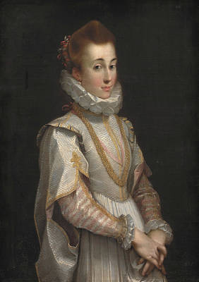 Painting - Portrait Of A Young Lady by Federico Barocci