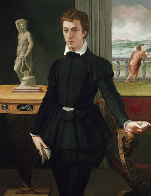 Painting - Portrait Of A Young Man by Alessandro Allori
