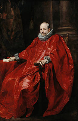 Table Painting - Portrait Of Agostino Pallavicini by Anthony van Dyck
