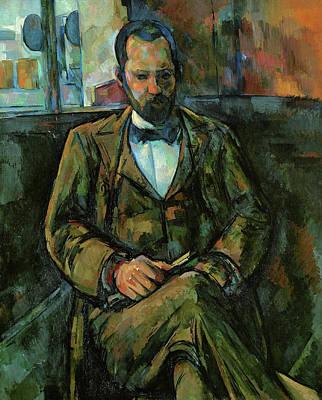 Sitting Painting - Portrait Of Ambroise Vollard by Paul Cezanne