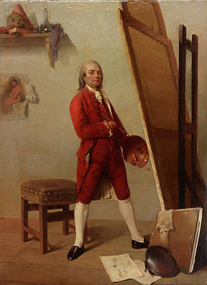 Portrait Painting - Portrait Of An Artist In His Studio by European School