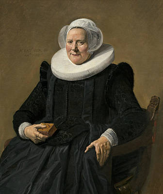 Painting - Portrait Of An Elderly Lady by Frans Hals