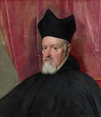 Catholic Painting - Portrait Of Archbishop Fernando De Valdes by Diego Velazquez