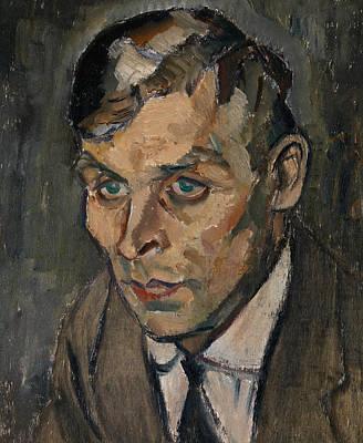Portrait Of Artist Vaino Kamppuri Art Print by Ilmari Aalto