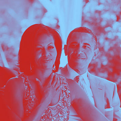 Portrait Of Barack And Michelle Obama Art Print