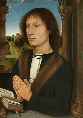 Prayer Painting - Portrait Of Benedetto Portinari by Hans Memling