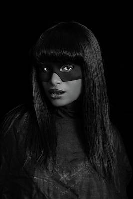 Photograph - Portrait Of Black Woman Weth Mask. by Stuart Brown