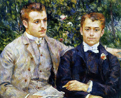 Plant Painting - Portrait Of Charles And Georges Durand-ruel by Pierre-Auguste Renoir