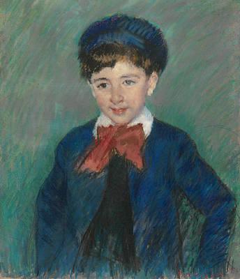 Pastel - Portrait Of Charles Dikran Kelekian, Age Eight by Mary Cassatt