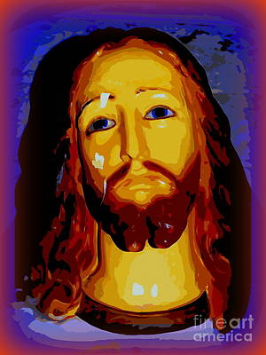 Mixed Media - Portrait Of Christ by Ed Weidman