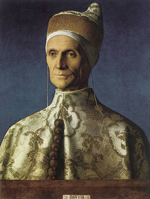 Painting - Portrait Of Doge Leonardo Loredan by Giovanni Bellini