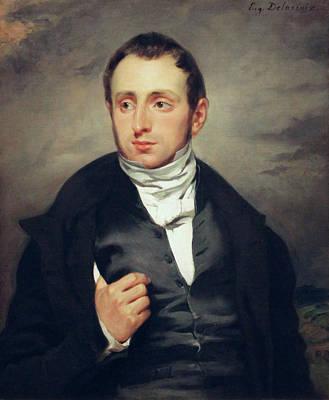 Man Painting - Portrait Of Dr. Francois-marie Desmaisons by Eugene Delacroix