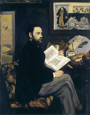 Book Painting - Portrait Of Emile Zola by Edouard Manet
