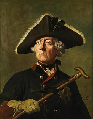 Wilhelm Camphausen Painting - Portrait Of Frederick The Great by Wilhelm Camphausen