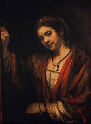 Women Painting - Portrait Of Hendrickje Stoffels by Rembrandt van Rijn