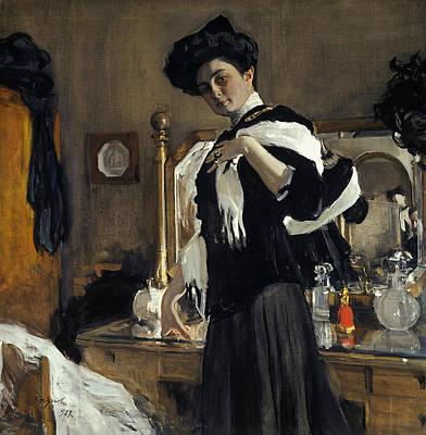 Painting - Portrait Of Henriette Girshman by Valentin Serov