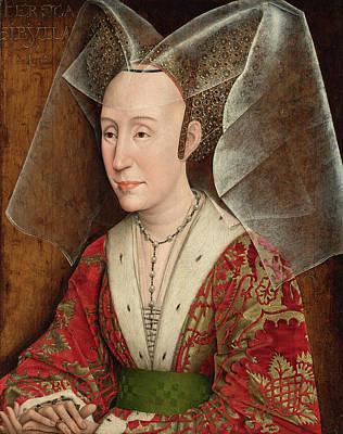 Monarch Painting - Portrait Of Isabella Of Portugal by Rogier van der Weyden
