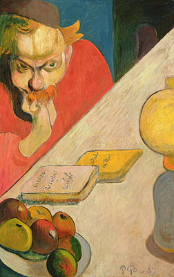 Desk Painting - Portrait Of Jacob Meyer De Haan by Paul Gauguin