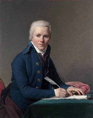 Writing Painting - Portrait Of Jacobus Blauw by Jacques-Louis David