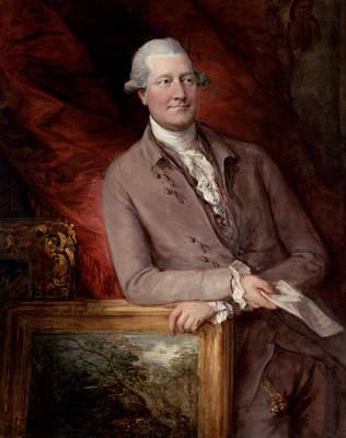 18th Century Painting - Portrait Of James Christie by Thomas Gainsborough