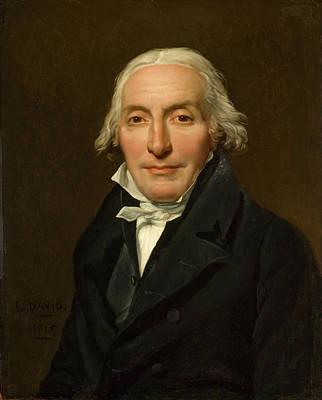 David Painting - Portrait Of Jean-pierre Delahaye by Jacques-Louis David