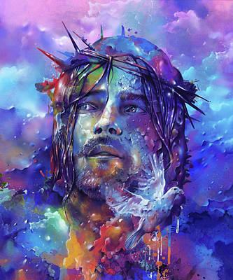Recently Sold - Surrealism Digital Art - Portrait Of Jesus by Bekim M