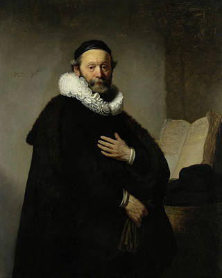 Rembrandt Painting - Portrait Of John Wtenbogaert by Rembrandt van Rijn