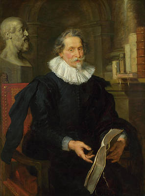 Rubens Painting - Portrait Of Ludovicus Nonnius by Peter Paul Rubens
