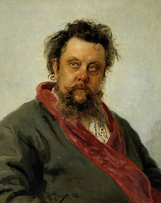 Painting - Portrait Of M. P. Musorgsky by Ilya Repin