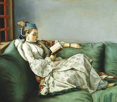 Painting - Portrait Of Maria Adelaide Of France In Turkish-style Clothes by Jean-Etienne Liotard
