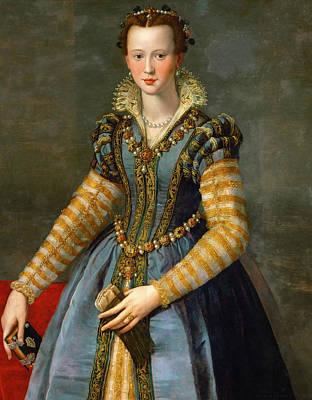 Painting - Portrait Of Maria De' Medici Or Eleonora Di Garzia Di Toledo by Alessandro Allori