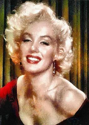 Digital Art - Portrait Of Marilyn Monroe by Charmaine Zoe