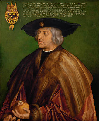 Painting - Portrait Of Maximilian I by Albrecht Durer