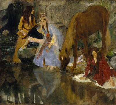 Horse Painting - Portrait Of Mlle Fiocre In The Ballet  by Edgar Degas