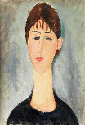 Portrait Of Woman Painting - Portrait Of Mme Zborowska by Amedeo Modigliani