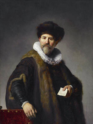 Rembrandt Painting - Portrait Of Nicolaes Ruts by Rembrandt van Rijn