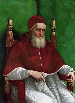 Raffaello Painting - Portrait Of Pope Julius II by Raffaello Sanzio