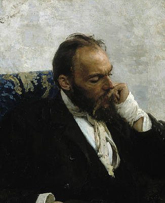 Painting - Portrait Of Professor Ivanov by Ilya Repin